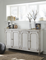 Ashley Furniture Door Accent Cabinet, Antique White