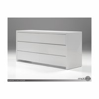 Double Dresser Blanche High Gloss White
