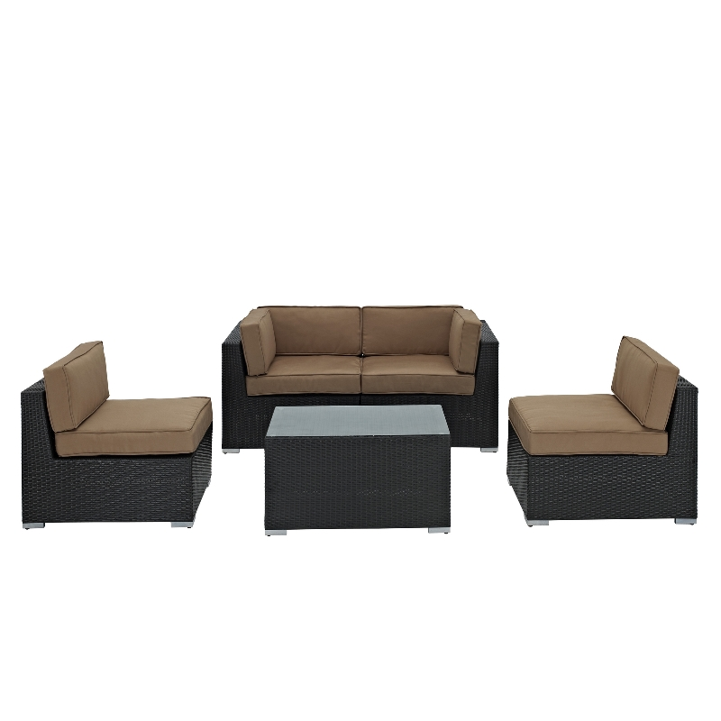 Modway Furniture Camfora Outdoor Wicker Patio 4 Piece Sofa Set