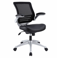 Edge Leather Office Chair, Black [FREE SHIPPING]