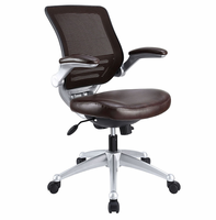 Edge Leather Office Chair, Brown [FREE SHIPPING]