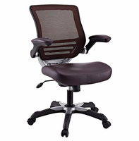 Edge Vinyl Office Chair, Brown [FREE SHIPPING]