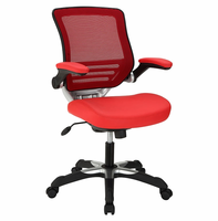 Edge Vinyl Office Chair, Red [FREE SHIPPING]