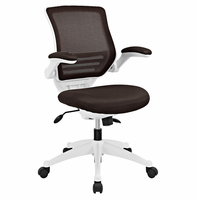 Edge White Base Office Chair, Brown [FREE SHIPPING]