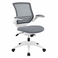 Edge White Base Office Chair, Gray [FREE SHIPPING]