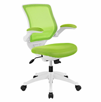 Edge White Base Office Chair, Green [FREE SHIPPING]