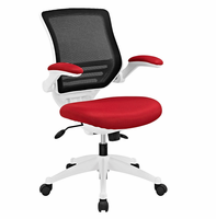 Edge White Base Office Chair, Red [FREE SHIPPING]