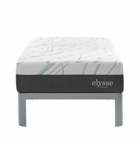 "Elysse Twin CertiPUR-US Certified Foam 12"" Gel Infused Hybrid Mattress, White [FREE SHIPPING]"