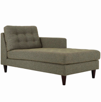 Empress Right-Arm Upholstered Fabric Chaise, Oatmeal [FREE SHIPPING]