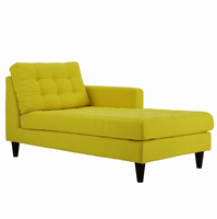 Empress Right-Arm Upholstered Fabric Chaise, Sunny [FREE SHIPPING]