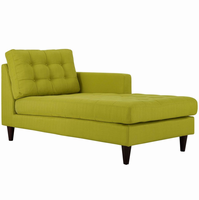 Empress Right-Arm Upholstered Fabric Chaise, Wheatgrass [FREE SHIPPING]