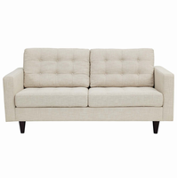 Empress Upholstered Loveseat, Beige [FREE SHIPPING]