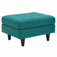 Empress Upholstered Ottoman, Teal [FREE SHIPPING]