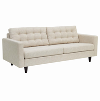 Empress Upholstered Sofa, Beige [FREE SHIPPING]