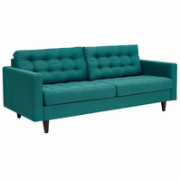 Empress Upholstered Sofa, Teal [FREE SHIPPING]