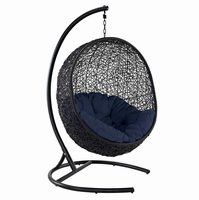 Encase Swing Outdoor Patio Lounge Chair, Navy [FREE SHIPPING]