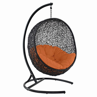 Encase Swing Outdoor Patio Lounge Chair, Orange [FREE SHIPPING]