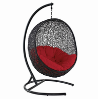 Encase Swing Outdoor Patio Lounge Chair, Red [FREE SHIPPING]
