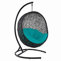 Encase Swing Outdoor Patio Lounge Chair, Turquoise [FREE SHIPPING]