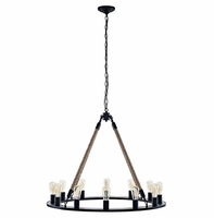 Encircle Chandelier, Brown [FREE SHIPPING]