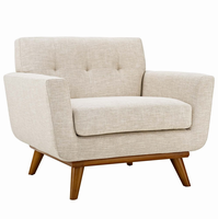 Engage Upholstered Armchair, Beige [FREE SHIPPING]