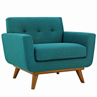 Engage Upholstered Armchair, Teal [FREE SHIPPING]