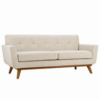 Engage Upholstered Loveseat, Beige [FREE SHIPPING]