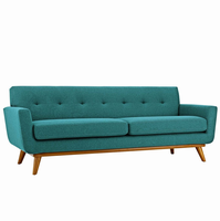 Engage Upholstered Sofa, Teal [FREE SHIPPING]
