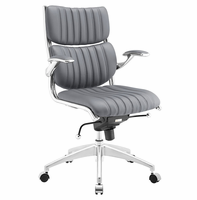 Escape Mid Back Office Chair, Gray [FREE SHIPPING]