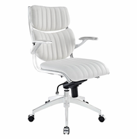 Escape Mid Back Office Chair, White [FREE SHIPPING]