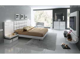 ESF Granada Set In White With Queen Platform Bed