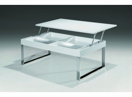 "ESF J030 White Coffee Table, 43""W x 24""D x 16/22.5""H"
