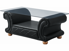 "ESF Versachi Coffee Table Black, 49""W x 25""D x 21""H"