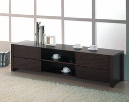 Beverly Hills Etch Pre-assembled Wenge TV Stand