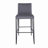 Euro Style Amir Bar Stool in Dark Gray and Black