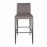 Euro Style Amir Bar Stool in Taupe and Black