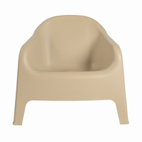 Euro Style Buoy Stacking Lounge Chair in Taupe, Set of 4