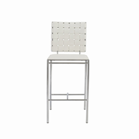 Euro Style Carina Counter Stool in White With Chrome Legs, Set of 2