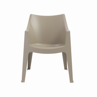 Euro Style Coccolona Stacking Arm Chair in Dove Gray, Set of 4