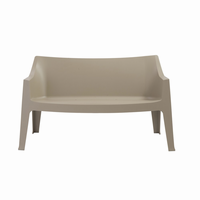 Euro Style Coccolona Stacking Sofa in Dove Gray, Set of 2