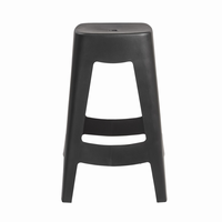 Euro Style Coda Stackable Counter Stool in Black, Set of 4