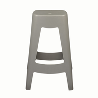 Euro Style Coda Stackable Counter Stool in Gray, Set of 4