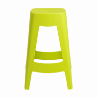 Euro Style Coda Stackable Counter Stool in Lime Green, Set of 4
