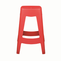 Euro Style Coda Stackable Counter Stool in Red, Set of 4