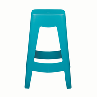 Euro Style Coda Stackable Counter Stool in Teal, Set of 4