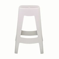 Euro Style Coda Stackable Counter Stool in White, Set of 4