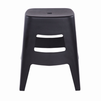 Euro Style Coda Stacking Stool in Black, Set of 4