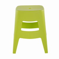 Euro Style Coda Stacking Stool in Lime Green, Set of 4