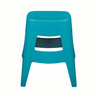 Euro Style Coda Stacking Stool in Teal, Set of 4