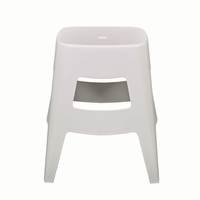 Euro Style Coda Stacking Stool in White, Set of 4